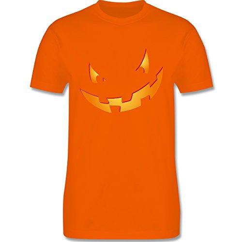 Halloween - Kürbisgesicht klein Pumpkin - XL - Orange - L190 - Herren T-Shirt (Halloween Suche Nach Kostümen Der Günstigen Auf)