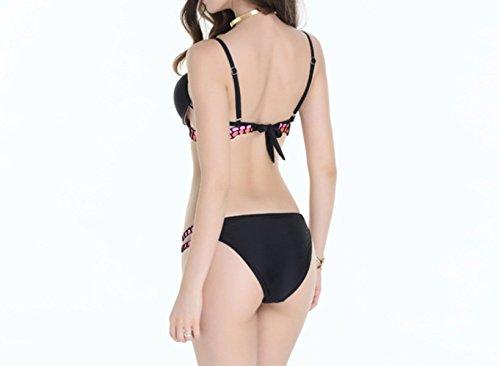 KUWOMINI.Woman Bikini Bademoden Damen Niedrige Taille Bikini-Badeanzug Green