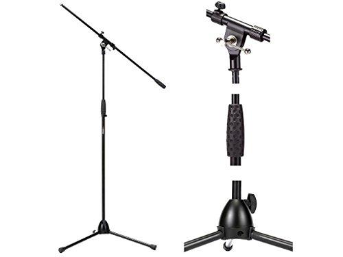PROEL RSM195BK Asta Professionale Stand con giraffa per Microfono con finitura Nero Opaco