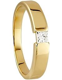 Diamond Line Damen - Ring 585er Gold 1 Diamanten ca. 0,15 ct.