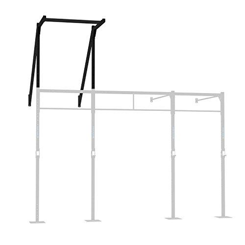 CAPITAL SPORTS Ringtop 150 Power Rack-Anbauteil zur Verbindung zwischen Upright-Bar und Wand für Kletterübungen (Wandmontage, Metall-Konstruktion, Gymnastik- und Turnringe) schwarz -