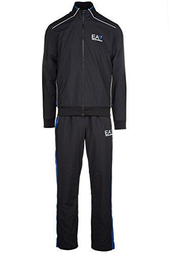 Emporio Armani EA7 tuta uomo fashion completo felpa pantaloni nero EU M (UK 38) 3YPV03 PN36Z 1200