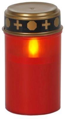 LED-Grablicht m. Timer rot Höhe 12 cm