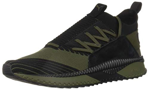 PUMA Men s Tsugi JUN Cubism Sneaker  Forest Night Black  10 M US