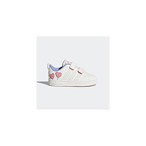 Adidas vs adv cl cmf inf, scarpe da fitness unisex-bambini, bianco (blatiz/blatiz/purtiz 000), 25 eu