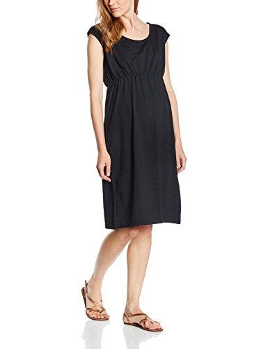 MAMALICIOUS Damen A-Linie Umstandskleid Mlperi Ss Jersey Dress Knielang Einfarbig, 36 (Herstellergröße: S), Schwarz (Black)