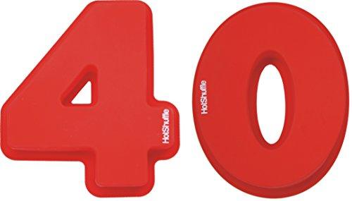 Große Silikon Anzahl 40 Kuchenform Backen Geburtstag Jubiläum Geburtstagstorte (100 Anzahl Kuchenform)