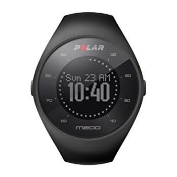 Polar M200 Orologio GPS con Cardiofrequenzimetro Integrato, Monitoraggio Attività Fisica e Sonno, Cinturino Intercambiabile, Connettività a Mobile e Web Service, Nero