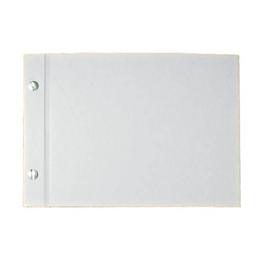 Rayher Album weiß geschraubt, quer DIN A5, 25 Blatt, 190g