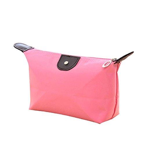 fa018a2a40b7 Kinghard Fashion Woman Cosmetic Bags Large Volume Waterproof Makeup Bag  (Pink) by Kinghard