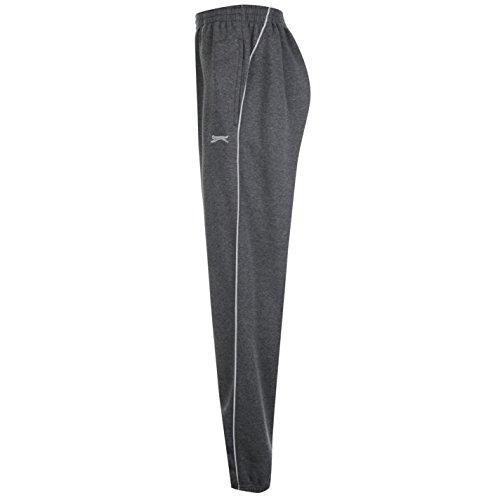 Slazenger Uomo Cuffed Hem Pantaloni In Pile Grigio scuro