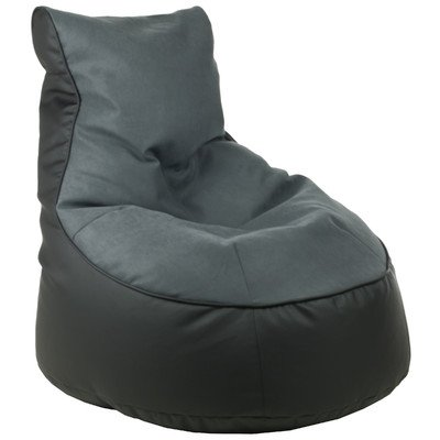 Sitzsack Lotos-Genua Farbe (Lotos): Schwarz, Farbe (Genua): Grau