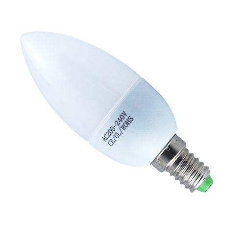 Preisvergleich Produktbild THG 6x 3W E14 LED Kerze Lampe Dekoratives Kronleuchter 5500K kaltweiß Innenbeleuchtung 200-240V(Schnelle Lieferung von Deutschland)