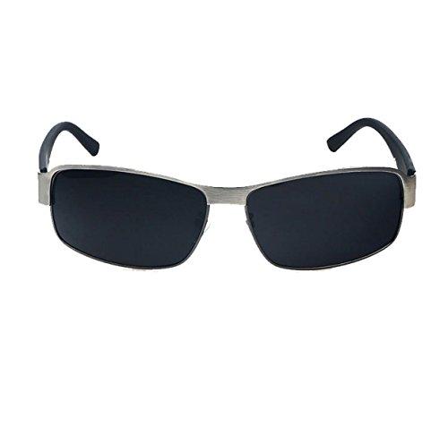 HAOYUXIANG Klassischen Quadratischen Hochwertig Männer Piloten Fahrer Fahren Polarisierten Sonnenbrillen,Gray