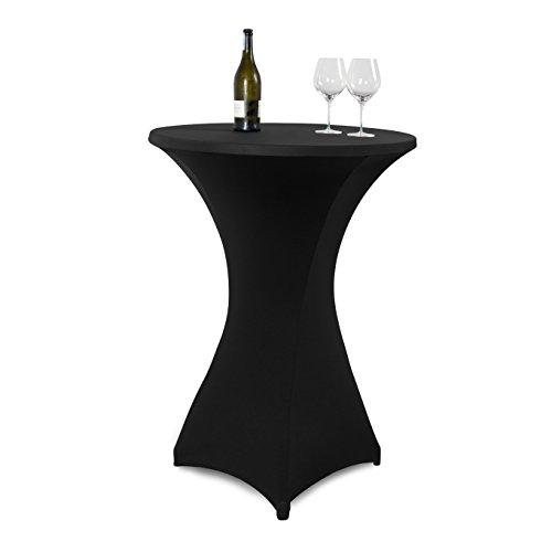 Vanage Outdoor-Tischdecken Strech-Husse für Stehtische/Bistrotische, Tischdurchmesser 70 - 80 cm, schwarz