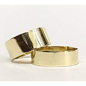 FloweRainboW Breite Trauringe 585 Gold – Glänzend – Hochzeitsringe/Eheringe/Verlobungsringe – Damen/Männer