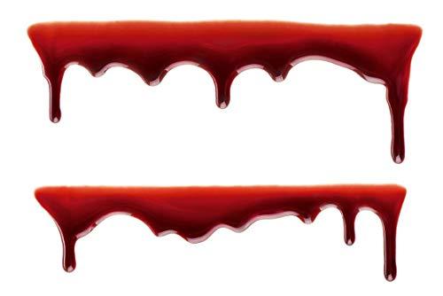2 Sticker Motiv Blut-Spur I Auto-Aufkleber Motorrad Roller Fenster-Aufkleber Grusel-Dekoration Halloween Blutläufer I wetterfest I kfz_255