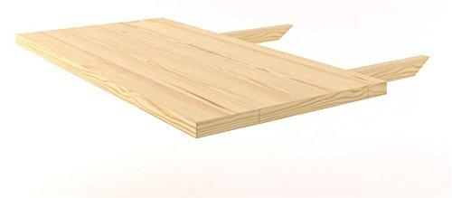 Tischverlängerung Kiefer Vollholz massiv natur Turakos 112 - Abmessung 70 x 45 cm