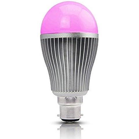 LIGHTEU, 1x WiFi Multicolor RGB light LED Bulb, Original MILIGHT Colour, Warm White, 9 Watt, B22, dimmable, Colour Changing Light Bulb [Energy Class A+]