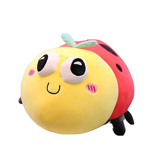 saqwq Der Niedliche Käfer Sieben-Sterne-marienkäfer Puppe Kinder Plüsch Spielzeug Puppe Schläft Auf Dem Kissen 40cm pro -