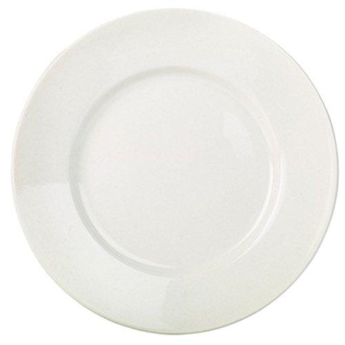 RG Geschirr-Set, mit breitem Rand, 26 cm, 6 Stück-günstig weiß Porzellan Speiseteller 26 Zoll Plate Wide Rim