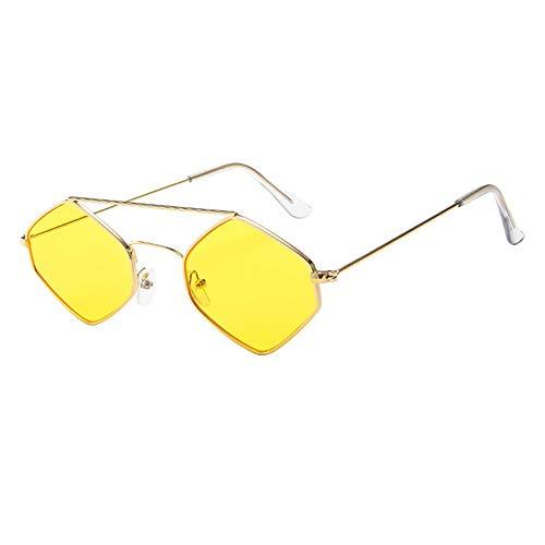 SUCES Mode Herren Retro Sonnenbrille für Damen Metallrahmen Shades Brillen Katzenauge Metall Rand...