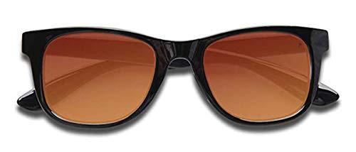 28270737d2 KZ Gafas de sol para adultos brillante Negro Marco - completa de la lente  Red Revo
