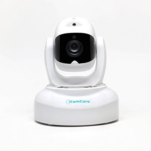Casco-iFamCare-Cmara-de-videovigilancia-de-hogares-Full-HD-1080p-con-Wi-Fi-para-iPhone-y-Android-con-sensor-de-calidad-del-aire-vigilabebs-rotacin-horizontal-360vertical-70-audio-bidireccional-visin-n