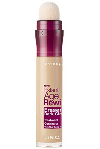 Maybelline New York Instant Age Rewind Eraser Dark Circles Treatment Concealer, Correttore Cancella Età, Light (etichetta in lingua inglese)