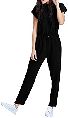 Only Onltammy Rollup S/S Jumpsuit Solid Wvn, Mono para Mujer