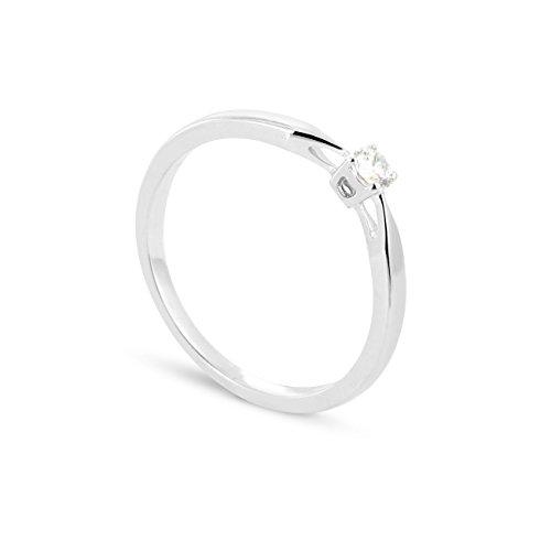 c7f4dd070498 Artiga(アルティガ) Anillo de oro blanco de 9 quilates con diamante ...