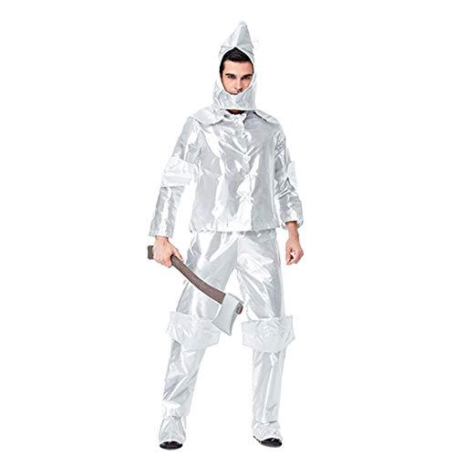 er Rollenspiel The Tin Man Costume der Wunderbare Zauberer von Oz 4 Stück Cosplay Kostüm Set ()