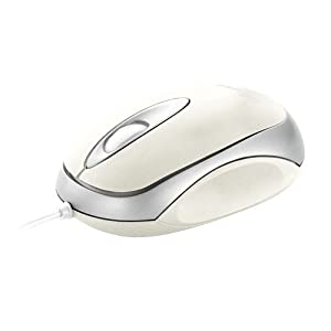 Trust Centa Wired USB Mouse for Computer and Laptop - White