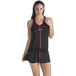 Duruss 0000000187 Vestido Deportivo de Tenis, Mujer, Negro, S