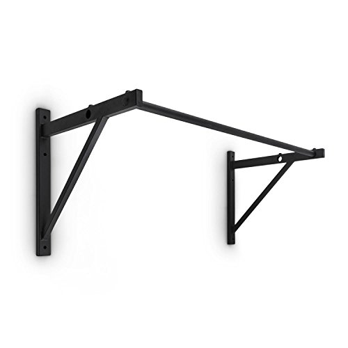 CAPITAL SPORTS Dominat Edition • Klimmzugstange • Pull Up Bar • Wandmontage • Body Weight Training • modular erweiterbar • Stahlkantrohr • 2 mm Materialstärke • 3 cm Durchmesser • Griffweite bis 125 cm • Pulverbeschichtung • inkl. Montagematerial • schwarz - Türen Pull-up-bars Für