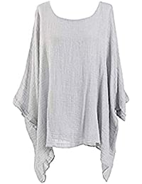 88fec132591 Ladies Cheese Cloth Lace Net Loose Fit Batwing Cotton Kimono Sleeve Baggy  Top Casual T-Shirt Summer Insert Vest Tops Plus Size UK 14-24…