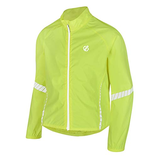 Dare 2b Kinder Cordial Waterproof and Breathable Lightweight Reflective Cycling Shell Jacke, Gelb - Fluro Yellow, 13 Jahre