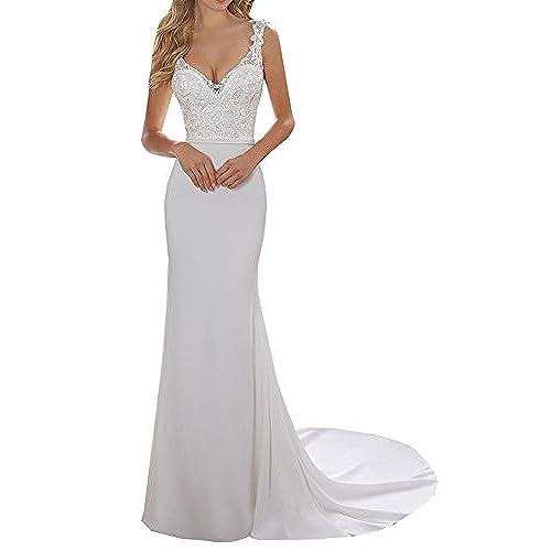 Ivory Wedding Dresses Size 18: Amazon.co.uk