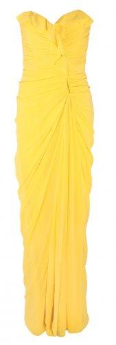 Badgley Mischka Women's Ruffle Strapless Gown Strapless Formal Gown