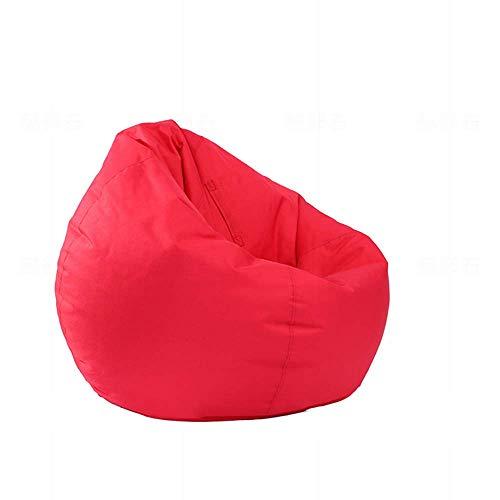 HYZXK Luxury Sitzsack stylischer Beanbag Füllung mit extra starken Nähten,Rot,75 * 90CM