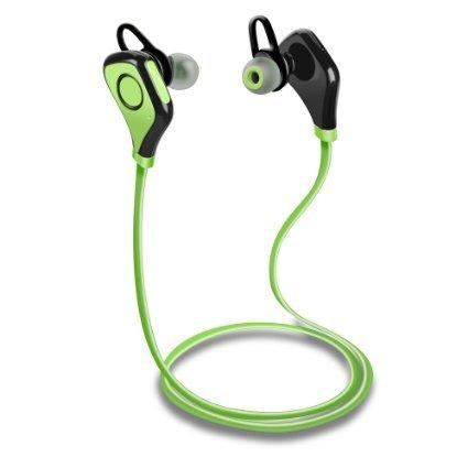 Tenswall Bluetooth Wireless Stereo InEar-Kopfhörer und Freisprech-Headset für Sport & Freizeit für iPhone 6s 6 Plus 5s, Samsung Galaxy S6 S5 S4, IOS & Android Smartphones - Grün