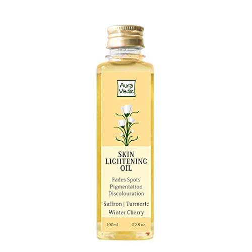 Auravedic Skin Lightening Oil - Turmeric and Winter Cherry infused face oil for dark spots