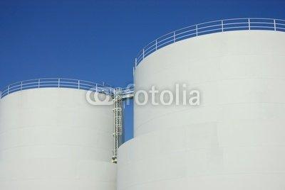 """Leinwand-Bild 30 x 20 cm: """"Tankanlagen 1"""", Bild auf Leinwand"""