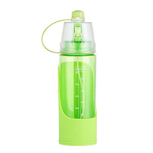 ZA Tragbare Hundewasserflasche 1 STÜCK 600 ML Hundeflasche für tragbare Reise Wasser Trinkbecher Dispenser Menschen Haustier Dual Use (Farbe : Grün) -