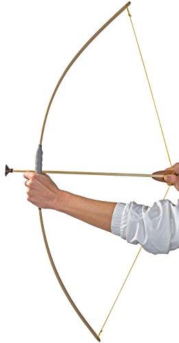 Nick and Ben Jugend-Bogen Flitze-Bogen Kinder-Bogen Set Bogen Holz 120 cm Echt-Holz Arm-Brust Natur-Holz Reiter-Bogen Lang-Bogen