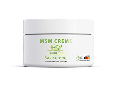 Gesunde Msm Lotion (Natur Total MSM Creme organischer Schwefel - 150 ml - MSM Pulver MSM Schwefel eingearbeitet in Basiscreme nach DAC Deutscher Apotheken Codex -)