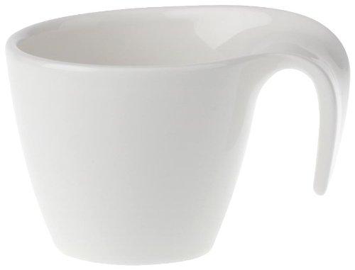 Villeroy & Boch 10-3420-1420 Flow Mokka-/Espressotasse, 0,1 l, Porzellan in geschwungener Form