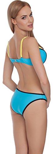Merry Style Damen Bikini Set MS75 Blau/Gelb