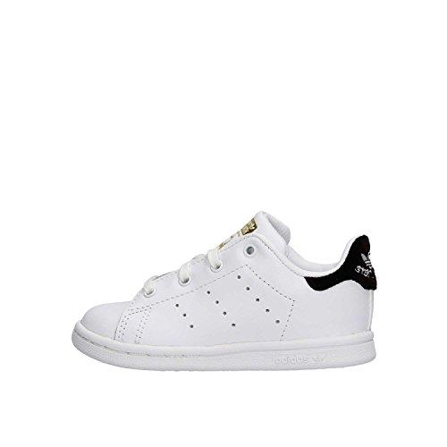 adidas Stan Smith i, Sneaker Unisex-Bimbi Bianco (Ftwbla / Ftwbla / Negbas)