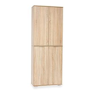 Möbel Pracht Aktenschrank, Büroschrank, Aufbewahrungsschrank (Bücherschrank groß, Sonoma-Eiche ca. B80,2cm x H214,7cm x T35cm)